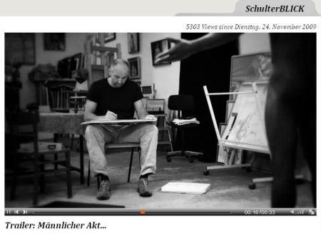 """Robert C. Rore bei boesnerTV, Trailer """"Männlicher Akt"""""""