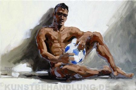 Zur Fußball WM 2010: Werk von Robert C. Rore in der Kunstbehandlung