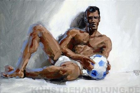 Zur Fußball WM 2010 in Südafrika: Werk von Robert C. Rore in der Münchner Galerie Kunstbehandlung