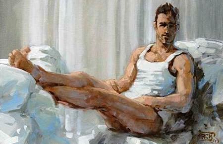 """Robert C. Rore, WV 6809, Olympio, """"El Majo desnudo"""", Öl auf Leinwand, 40×60cm, 2011"""