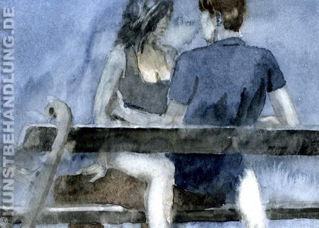 Robert Brinkschulte - kleine Aquarelle in der Galerie Kunstbehandlung