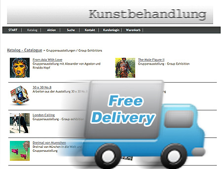 Kunstbehandlung Webshop: versandkostenfreie Lieferung bis 31.12.2011