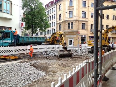 Tram-Baustelle Müllerstraße