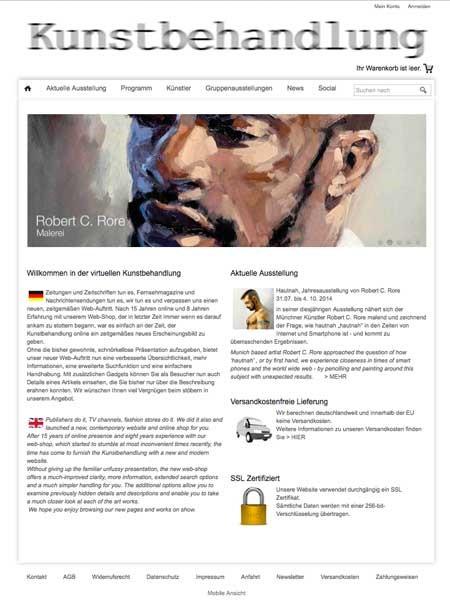 Kunstbehandlung Webshop