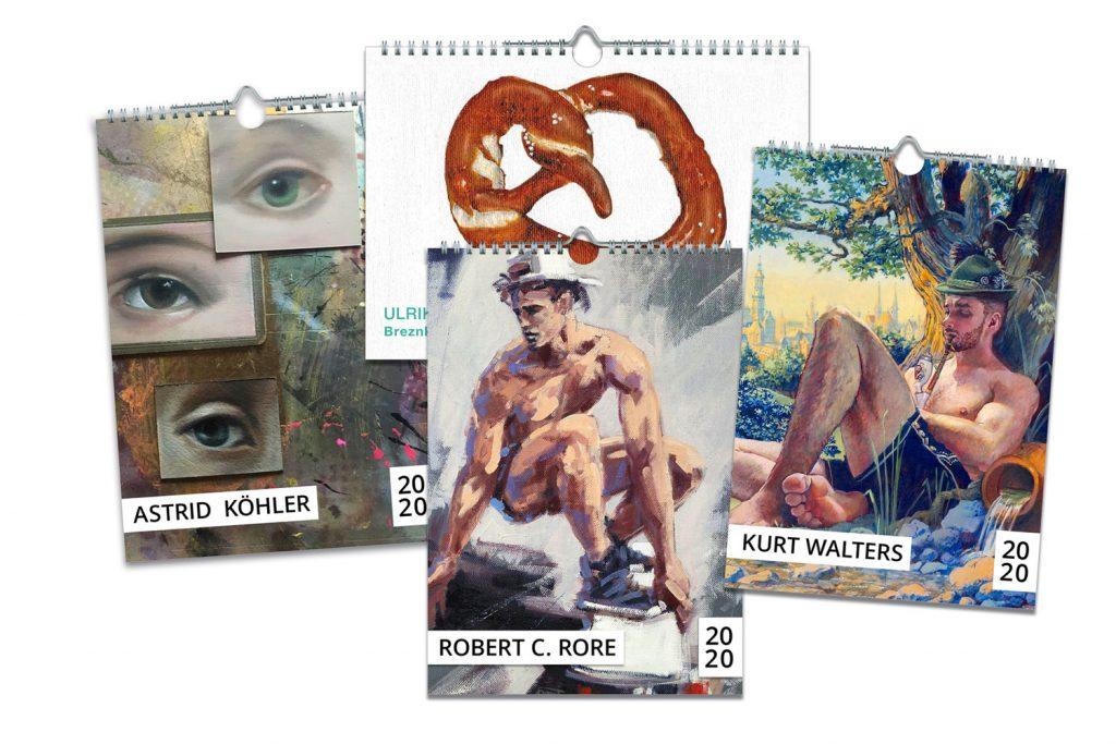 Kalender für das Jahr 2020 aus der Kunstbehandlung