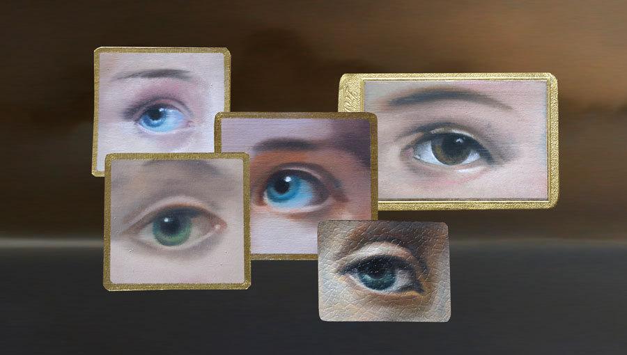 Augen von Astrid Köhler, Gemälde, Kunstbehandlung München