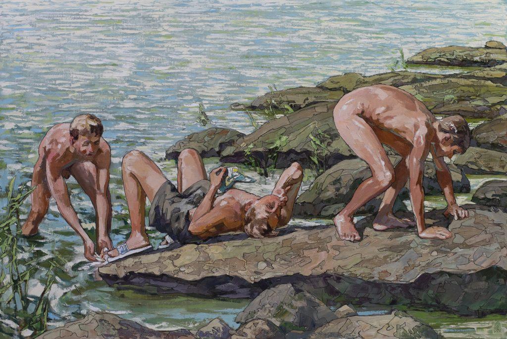 Werk von Künstler Sergey Sovkov in der Galerie Kunstbehandlung München: Restless Friends