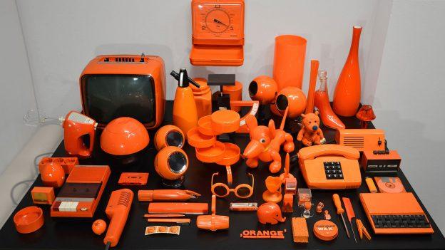 Sammlung Orange - Auswahl der Exponate